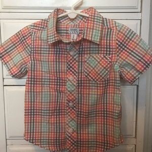 Old Navy short sleeve button front shirt size 2T